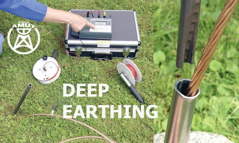 اجرای سیستم ارتینگ عمیق - Deep Earthing به روایت تصویر