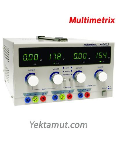 منبع تغذیه مدل XA3033  سه کاناله مولتیمتریکس