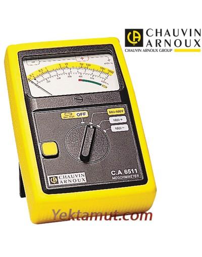 تستر مقاومت عایقی آنالوگ مدل CA6511 کاوین آرنوکس - 500 ولت