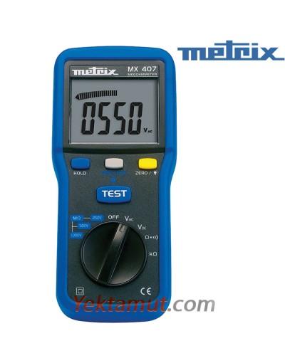 تستر مقاومت عایقییک کیلوولت مدل MX407 متریکس
