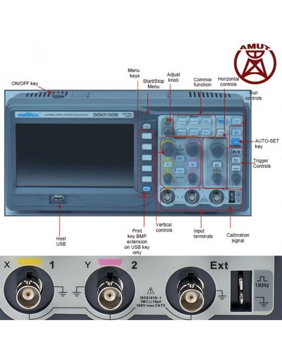 اسیلوسکوپ دیجیتال مدل DOX2070B متریکس - 2 کانال 70 مگاهرتز