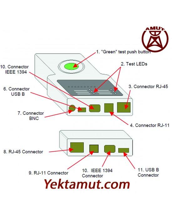 تستر کابل شبکه مدل CT51 مولتی متریکس